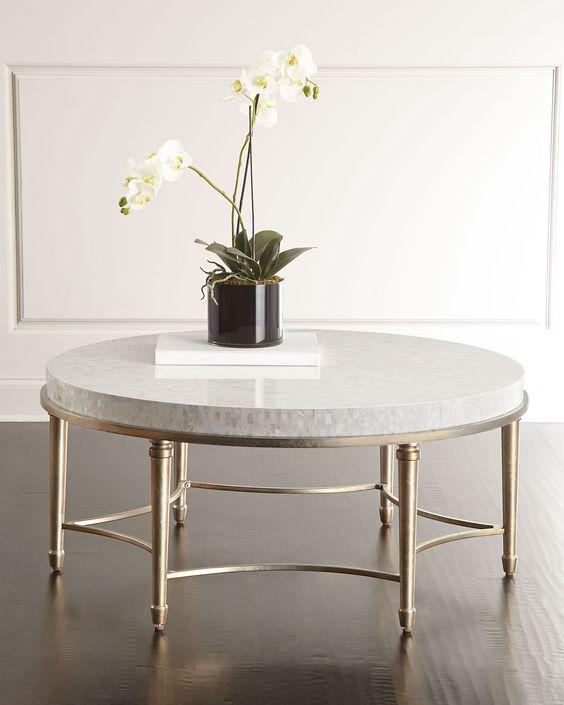 Mesa de centro de granito branca
