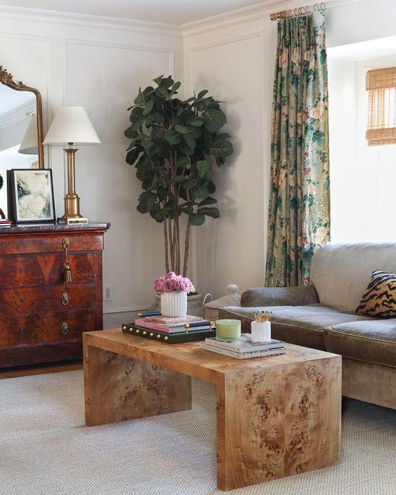 Mesa de centro rustica de madeira