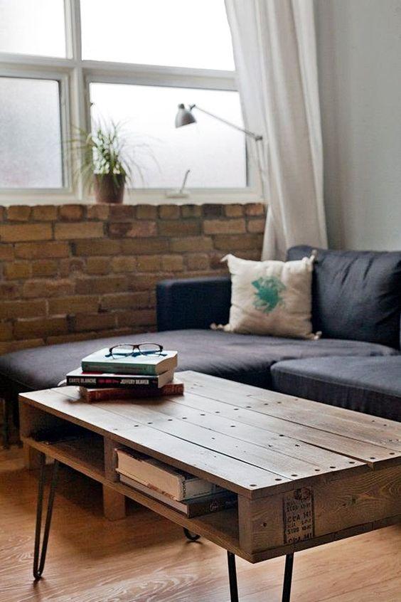 Mesa de centro rustica de palete