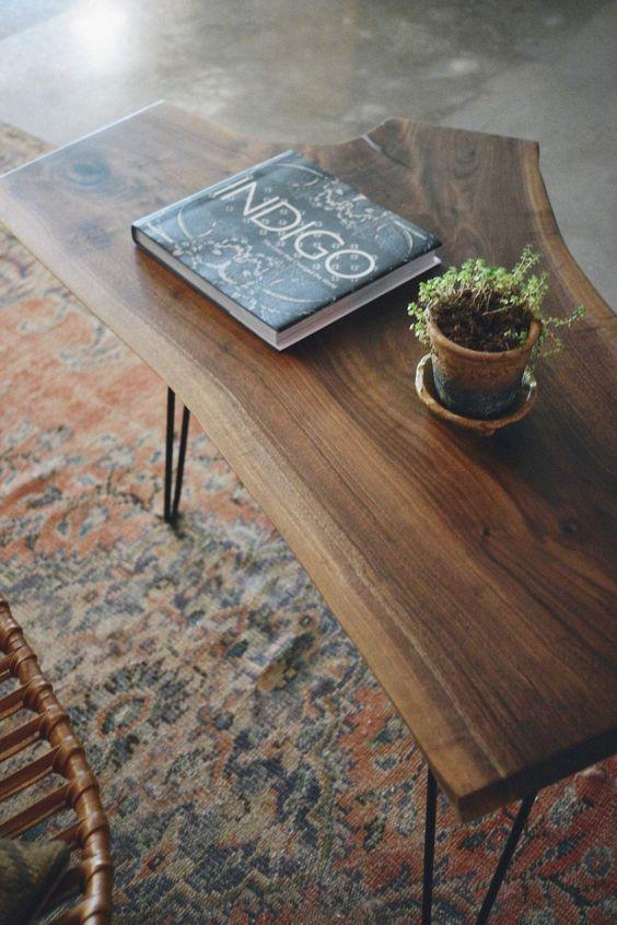 Mesa de centro rustica para sala de estar