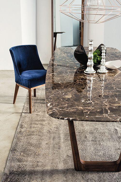 Mesa de granito marrom para sala clássica