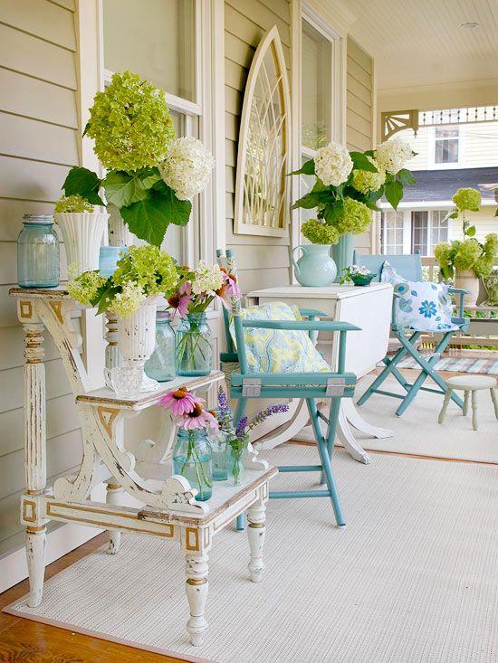 Mesa pra varanda e sacada azul moderna