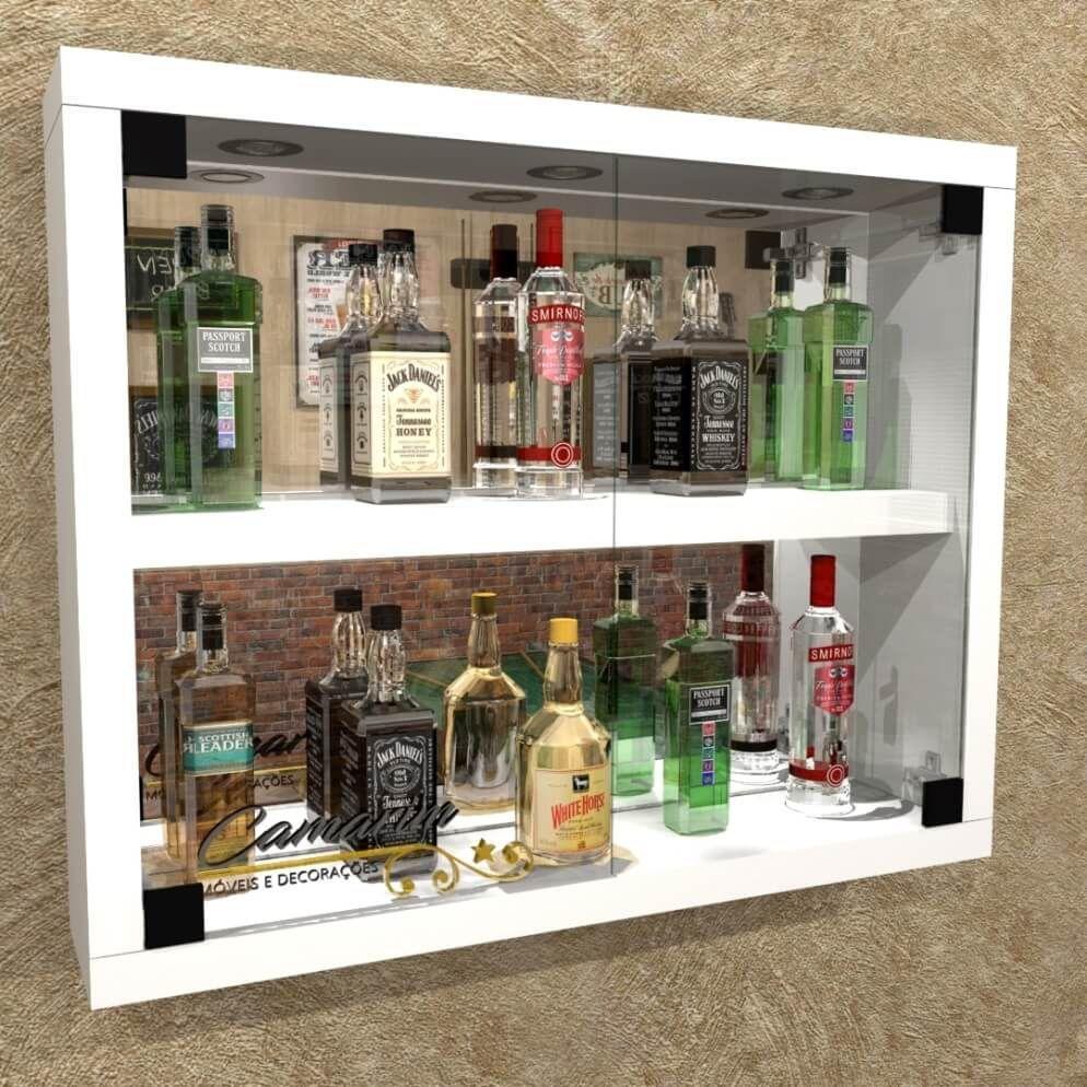 Mini cristaleira de parede