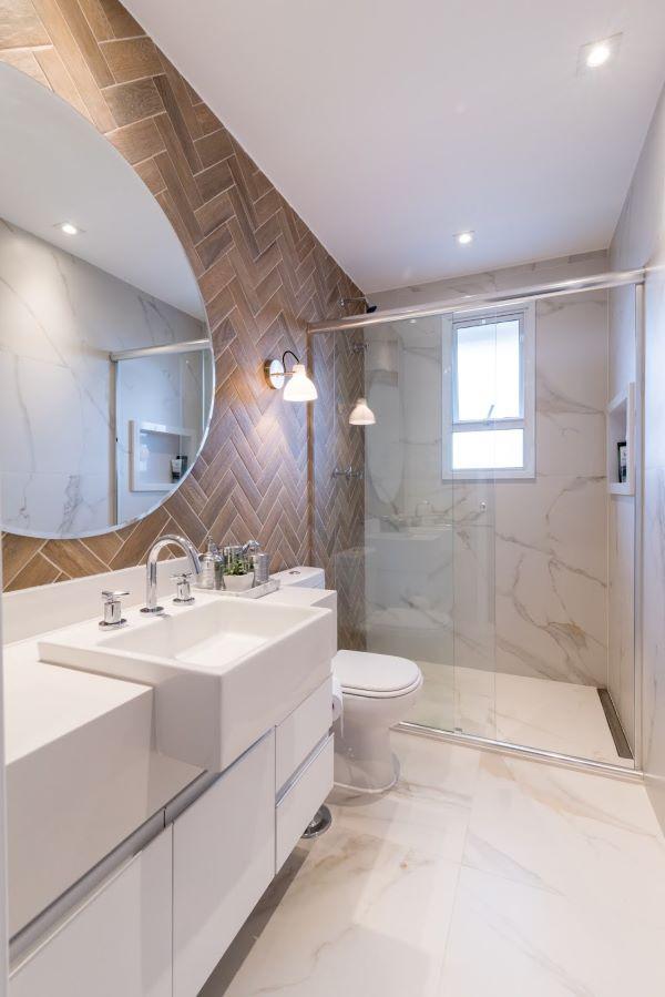Porcelanato para banheiro moderno de diferentes tipos