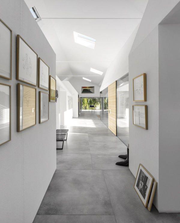 Porcelanato que imita cimento queimado