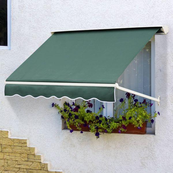 Toldo para janela verde
