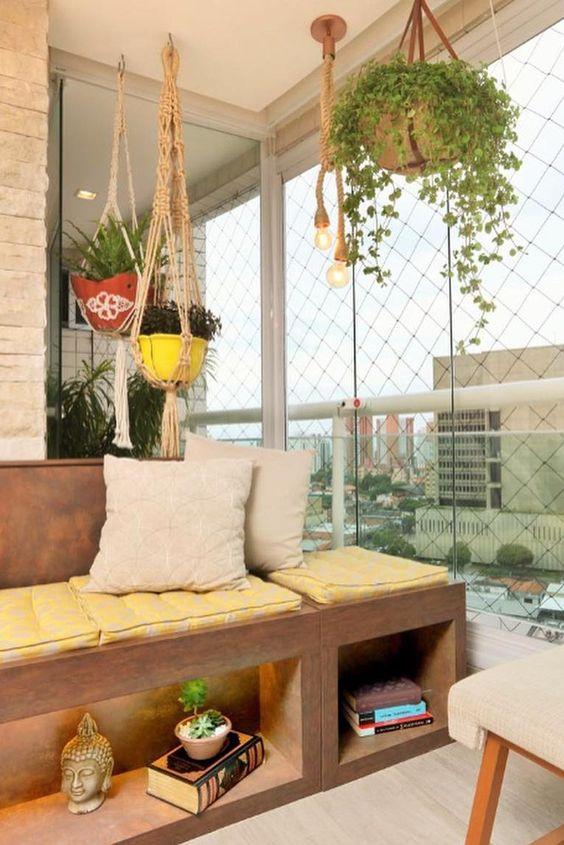 Varanda de vidro para apartamento