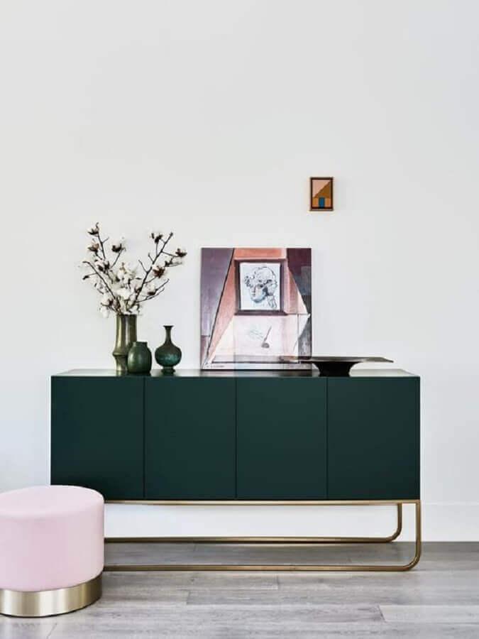 decoração clean com buffet armário moderno Foto Pinterest