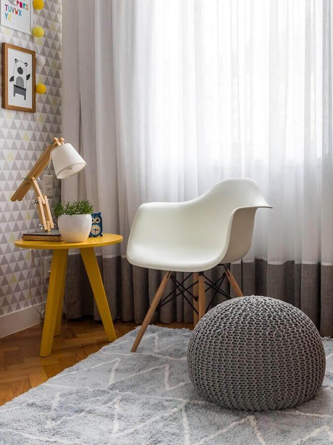 decoração de quarto de bebê com luminárias de mesa decorativas Foto NaToca Design