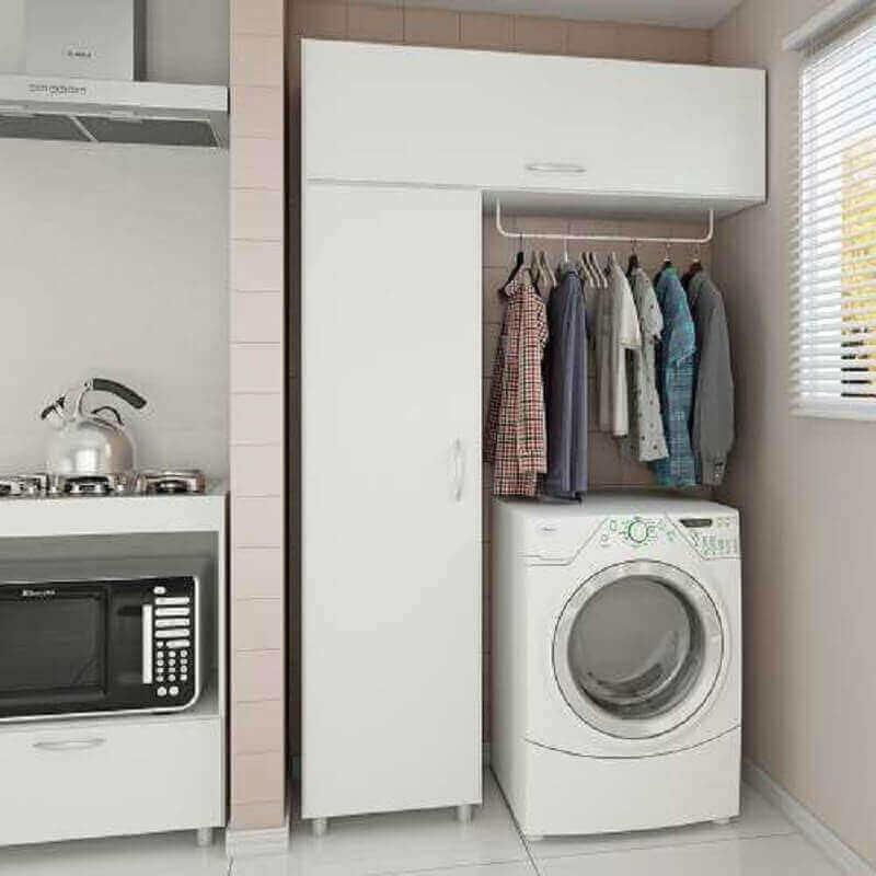 decoração simples com móveis para lavanderia pequena Foto Pinterest