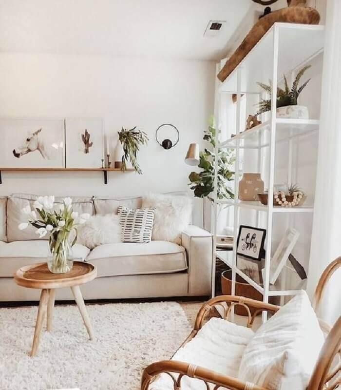 móveis para sala de visita decorada em estilo escandinavo Foto Kimber Interiors