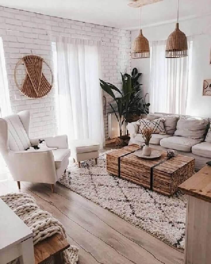 sala de visita decorada com estilo escandinavo Foto Apartment Therapy