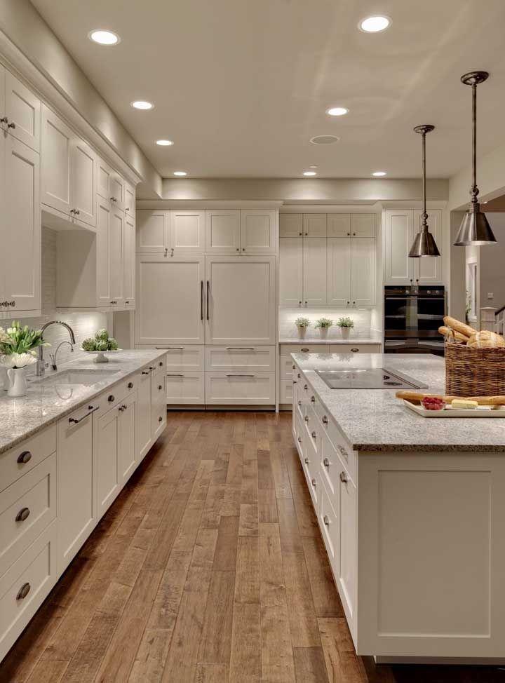 Bancada e ilha gourmet de granito cinza para cozinha moderna