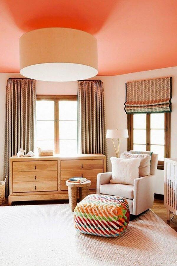 Decoração de casa cor pessego