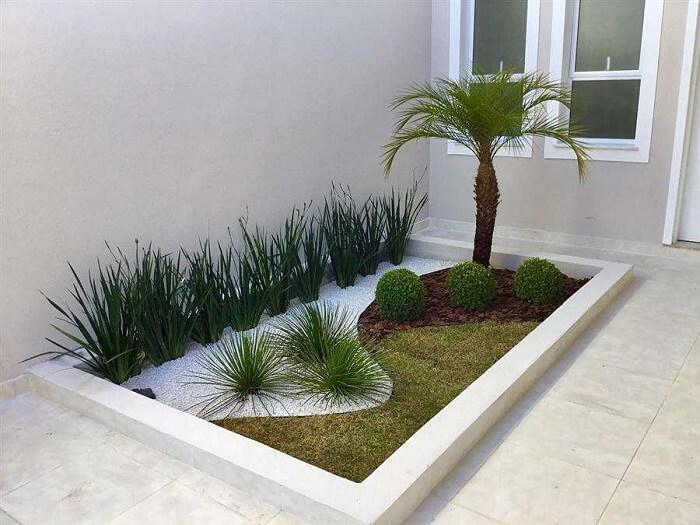 Decore o jardim do terreno com plantas e pedras. Fonte: Engineering Discoveries