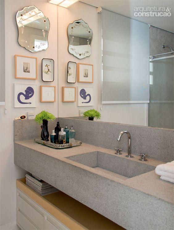 Granito cinza para banheiro moderno