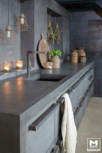 Granito cinza para cozinha moderna