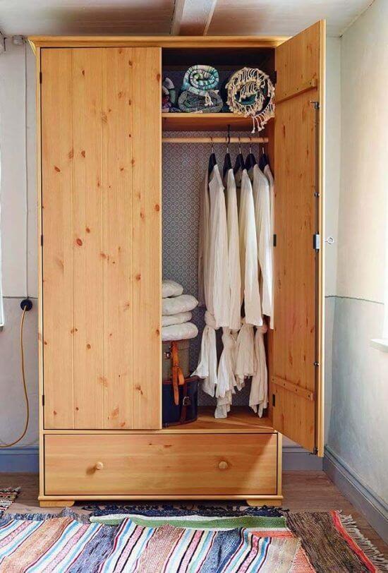 Guarda roupa rustico de solteiro para quarto pequeno