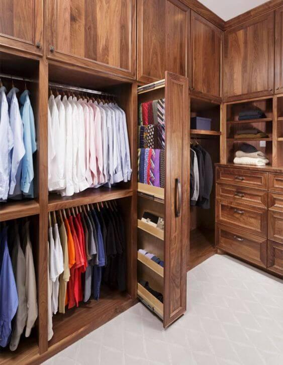 Guarda roupa rustico para closet grande