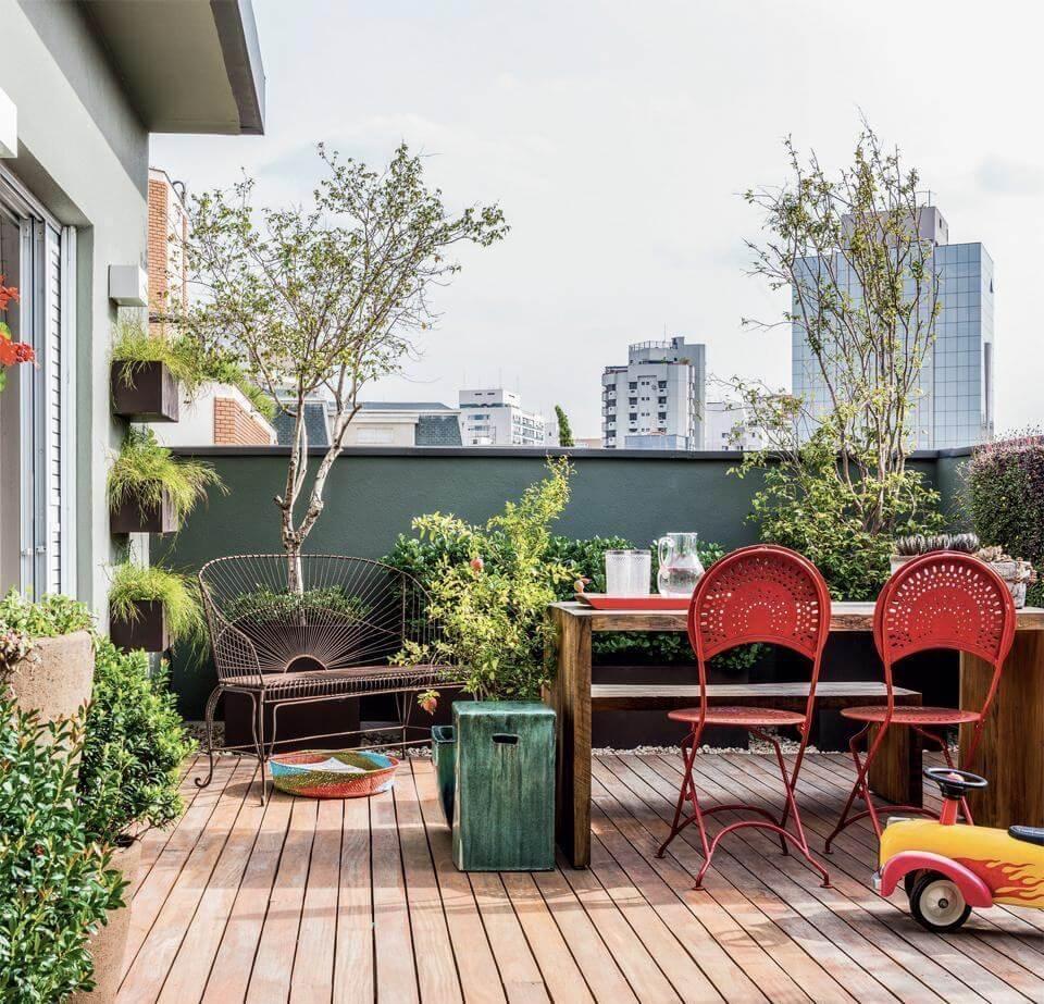 Ideias criativas para jardim Banco de jardim de ferro vermelho
