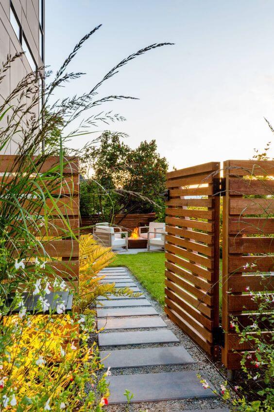 Ideias de cerca para jardim moderno e alegre