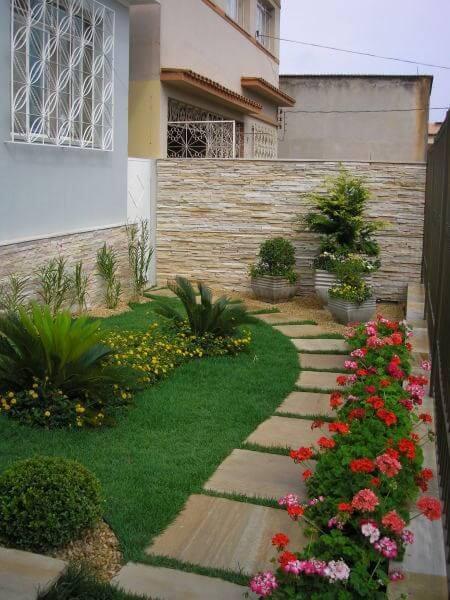 Ideias para jardim com caminho de pedras