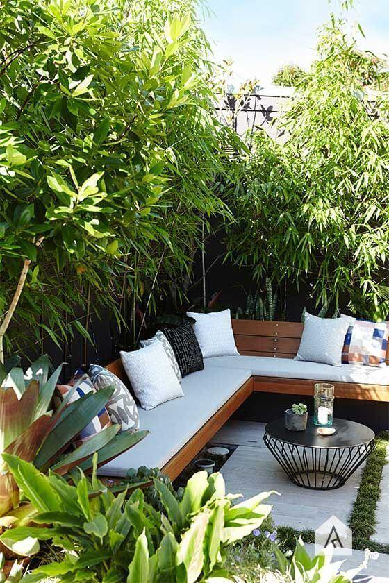 Ideias para jardim com sofá de canto