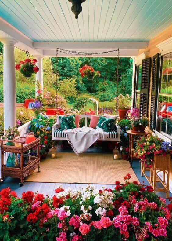 Ideias para jardim com varanda aberta e charmosa