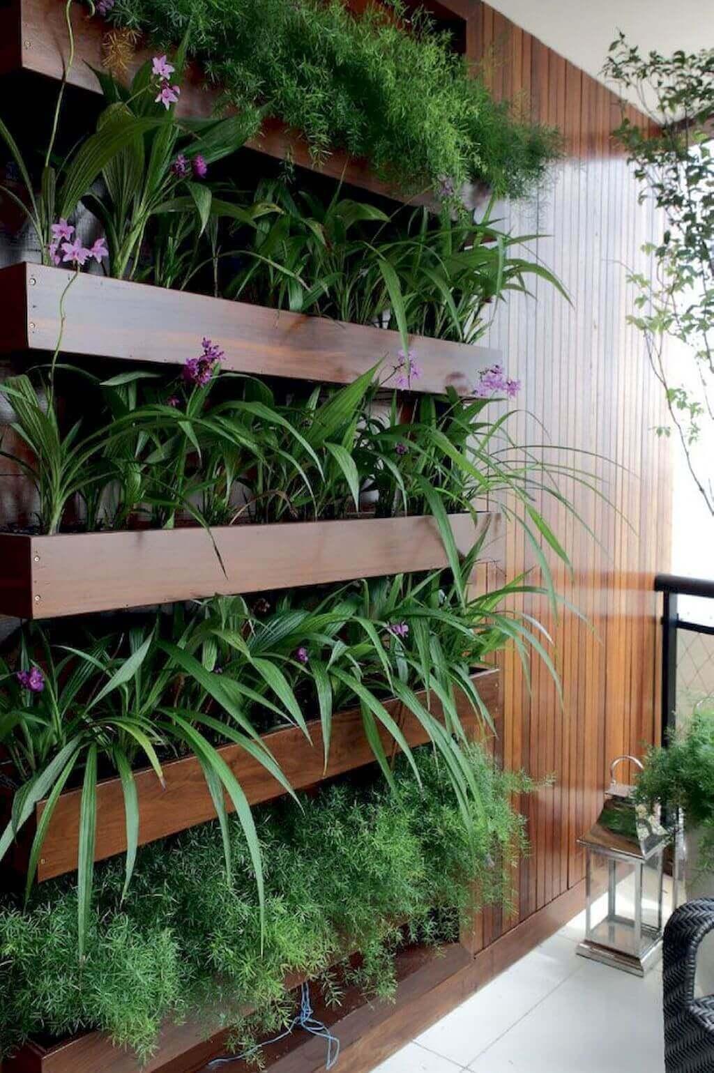 Ideias para jardim vertical com flores