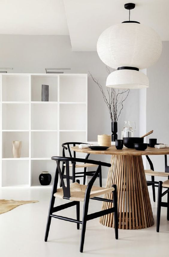 Mesa cone para sala de jantar moderna