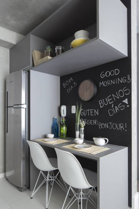 Mesa de granito cinza para cozinha pequena