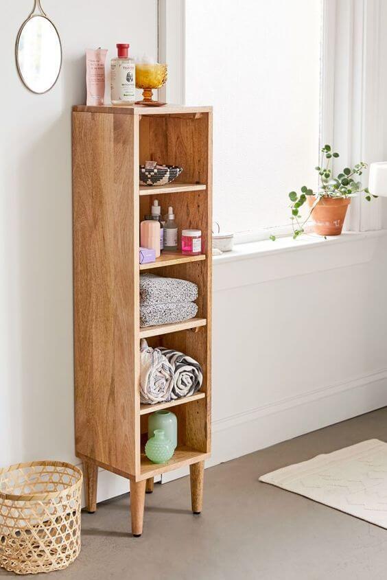 Mini estante para banheiro moderno