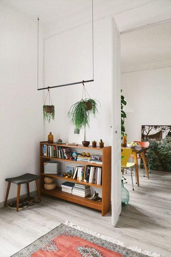 Mini estante para livros