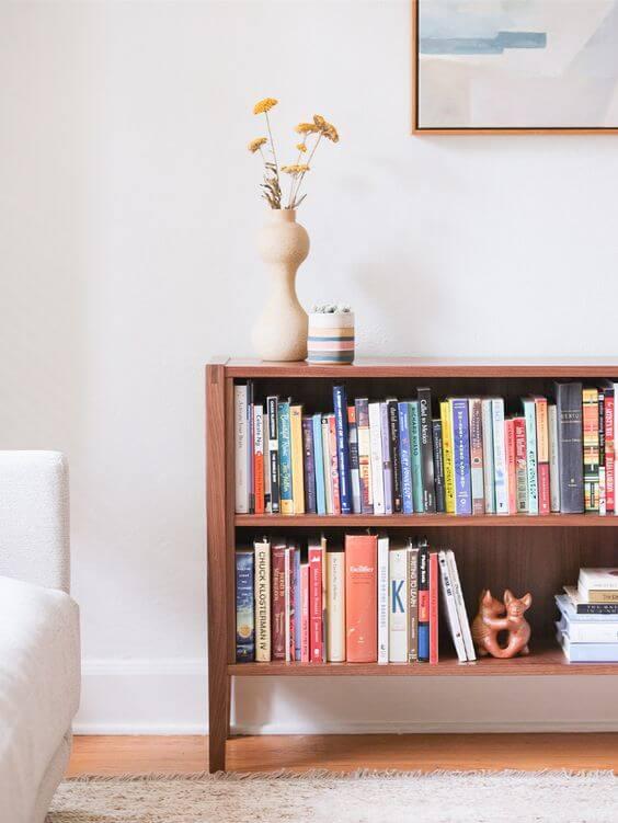 Mini estante para sala de estar moderna