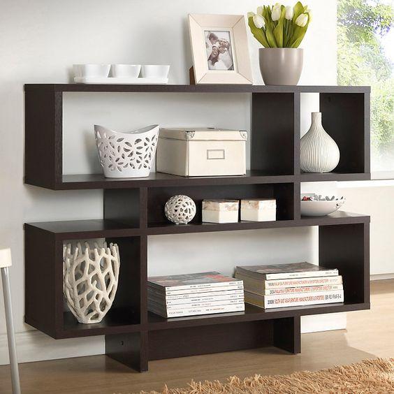 Mini estante para sala na cor preta