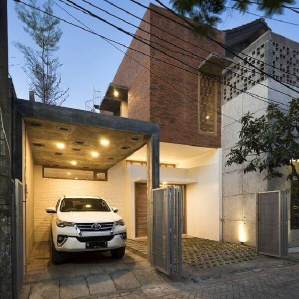 Modelos de cobertura para garagem feitas com concreto. Fonte: Revista Viva Decora