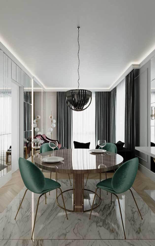 Moldura de isopor para sala de estar moderna