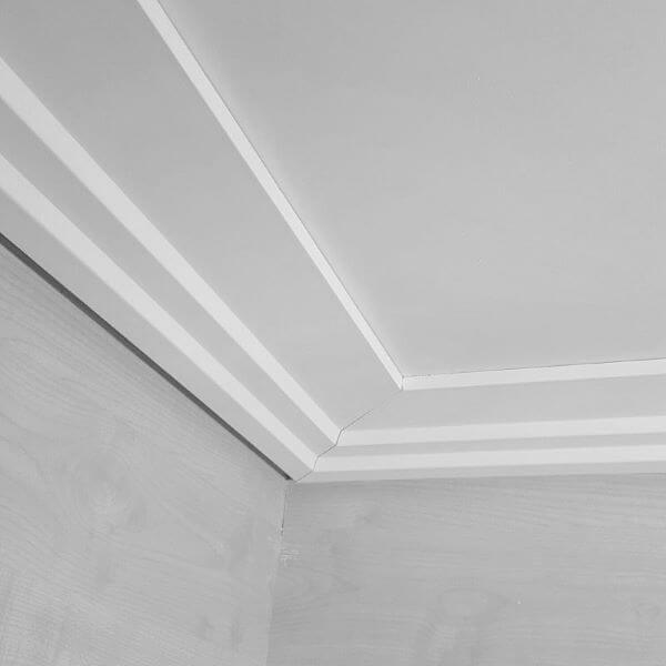 Moldura de isopor para teto moderno
