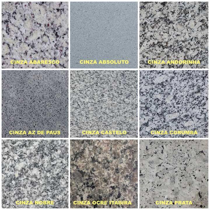 Nomes de granito cinza para bancada e pia