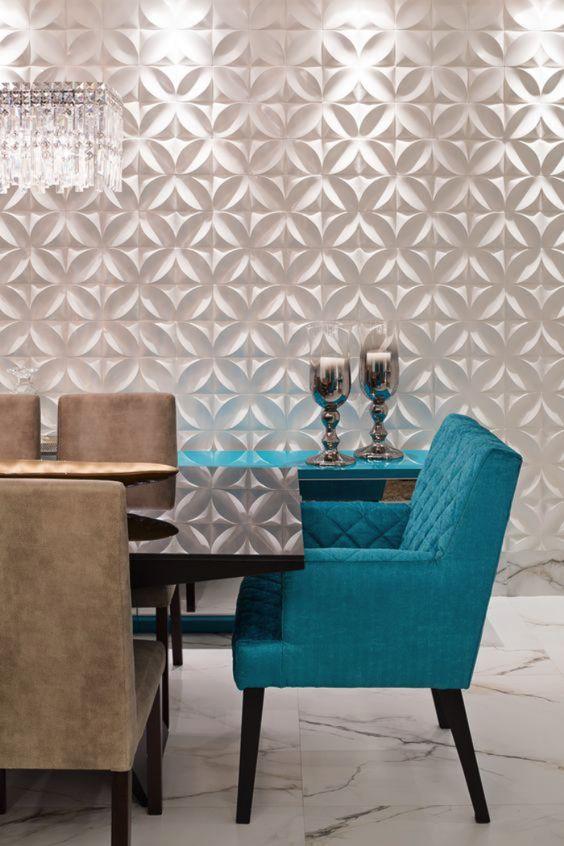 Porcelanato 3D mesa de jantar