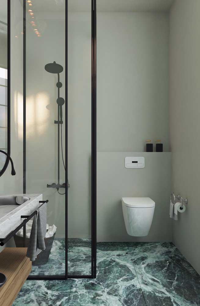 Porcelanato 3D para banheiro moderno