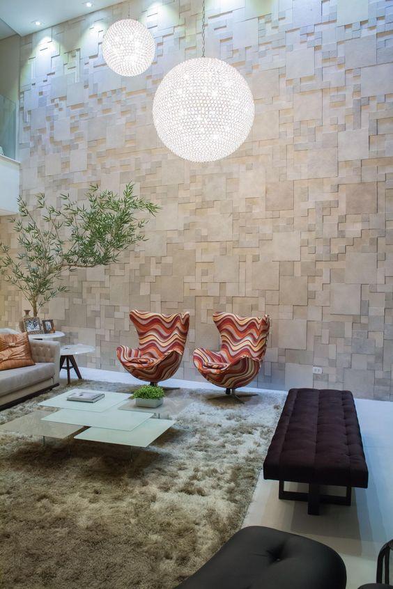 Porcelanato 3D para sala de estar