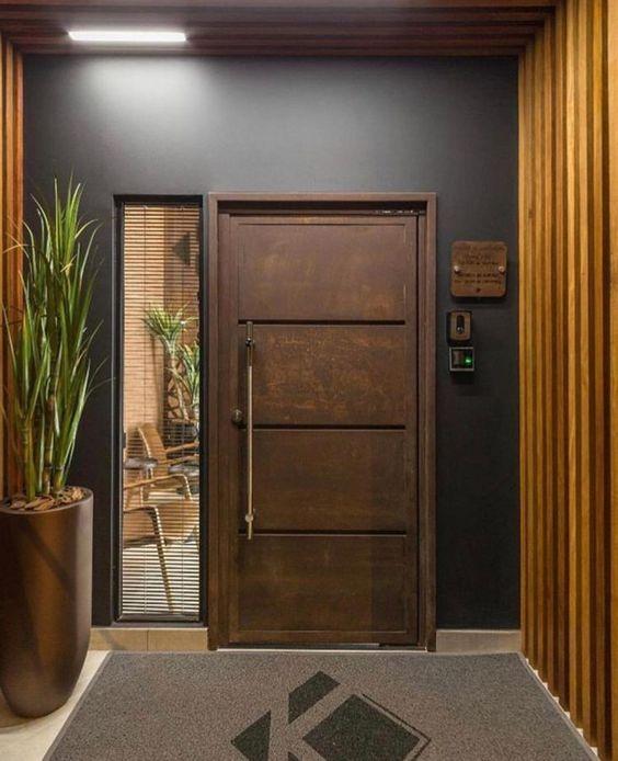 Porta de madeira para sala de estar