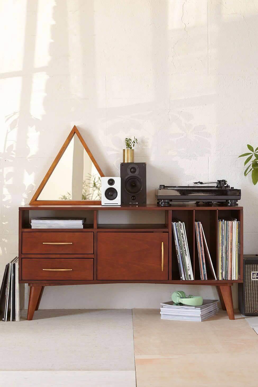Rack rustica de madeira para decoração vintage
