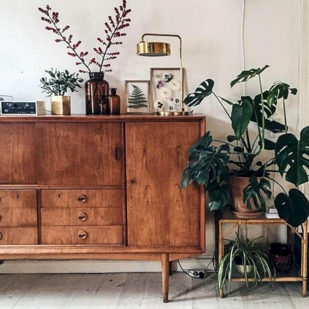 Rack rustico de madeira