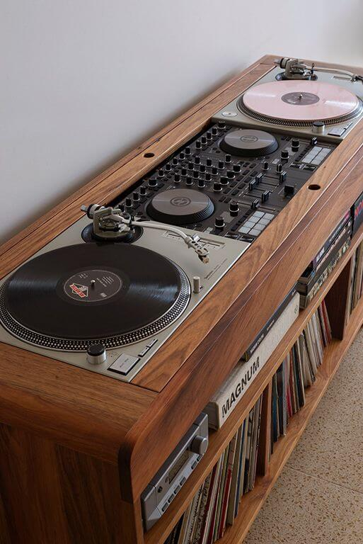 Rack rustico rústica para discos de vinil