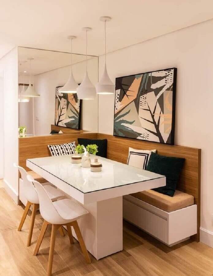 canto alemão para sala de jantar apartamento decorado Foto Habitissimo