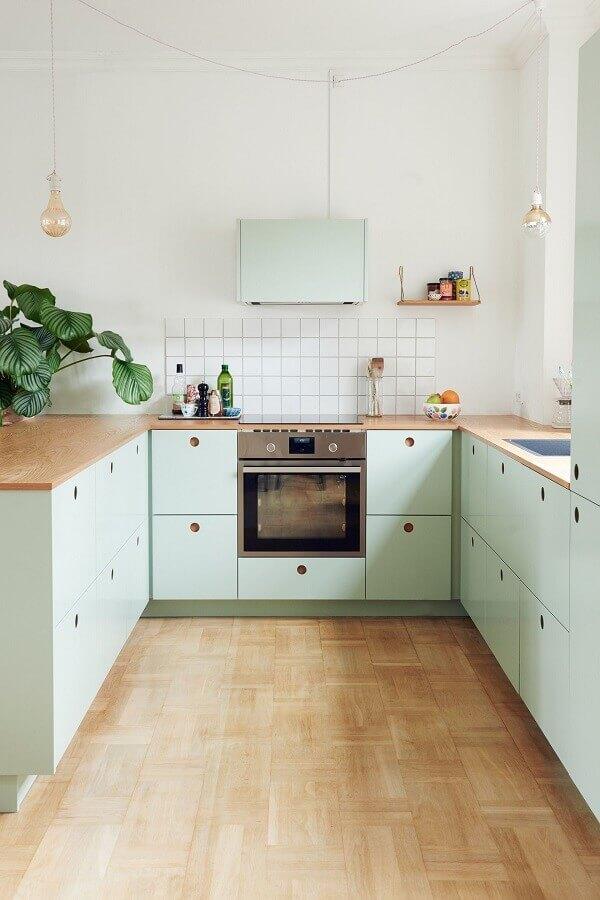 cores pastéis para decoração de cozinha retrô simples Foto Pinterest