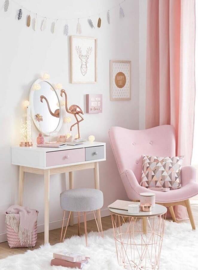 cores pastéis para decoração de quarto de menina cor de rosa Foto Pinterest