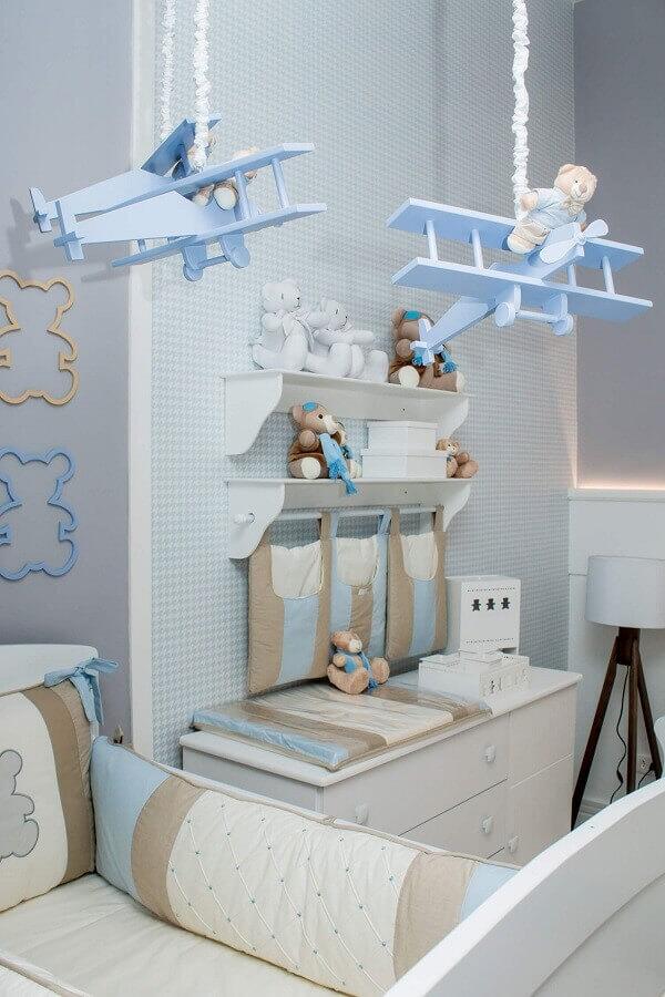 cores pastéis para quarto de bebê azul Foto Pinterest